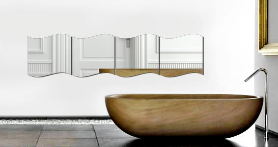 Square Curves wall mirror