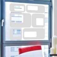 Contemporary frosted window decals