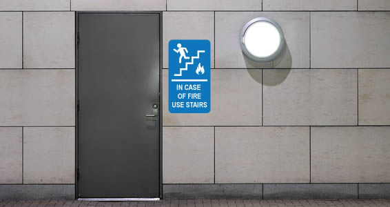 Exit Stairs sign decal