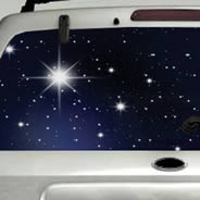 Starry Skies see through car window decals