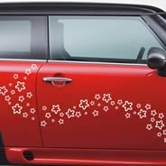 Stars car decals