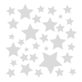 Stars frosted window decals