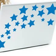 Stars -laptop skin stickers