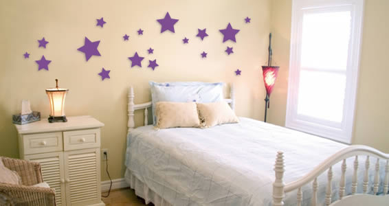 Stars wall appliques