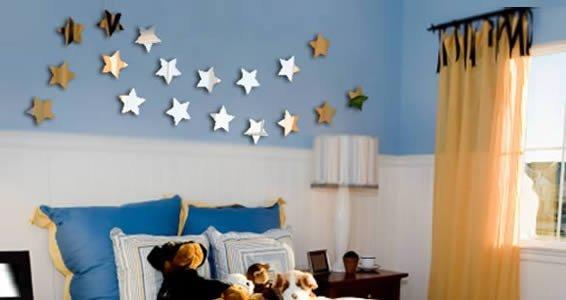 Stars acrylic mirrors