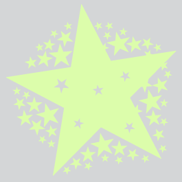 Starshine glow in the dark star wall decals