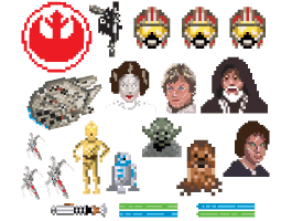 PixelArt Rebel decals by K-SEE