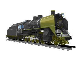 Steam Train wall decals