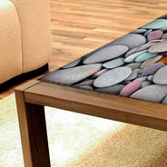 Pebble Stones Dry Erase Furniture Skin Decal