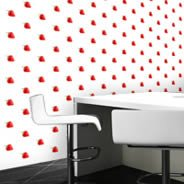 Strawberry Step and Repeat wall murals