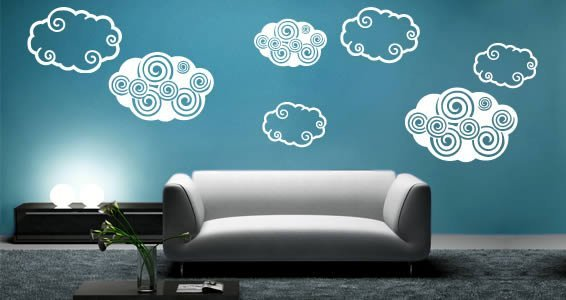 Dezign Clouds Wall Stickers