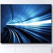 Subway digital photos on canvas