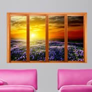 Lavender Sunset Faux Window Murals