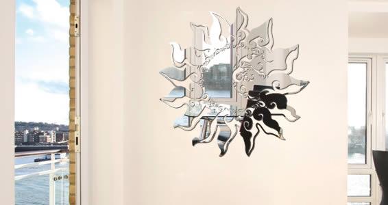 Baroque Sun acrylic wall mirror