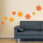 Sun wall decals pack