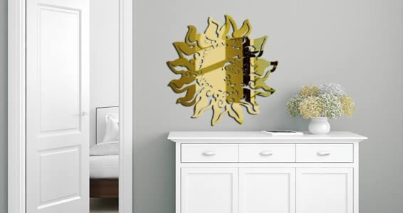 Acrylic Wall Mirror baroque sun acrylic wall mirror | dezign with a z