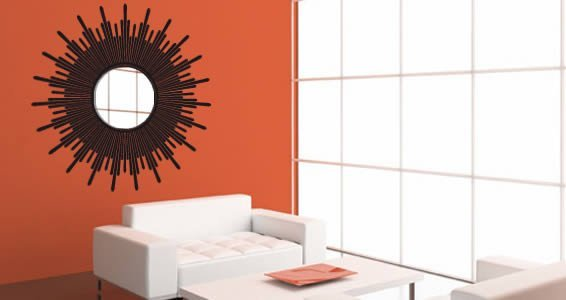 SunBurst acrylic miror and vinyl