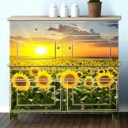 Sunset Sunflowers dry-erase decals