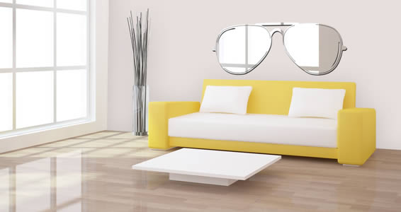 Sunglasses wall mirrors
