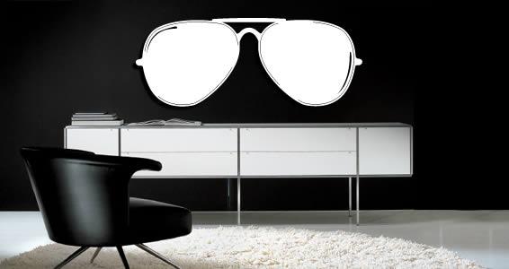 Sunglasses wall appliques