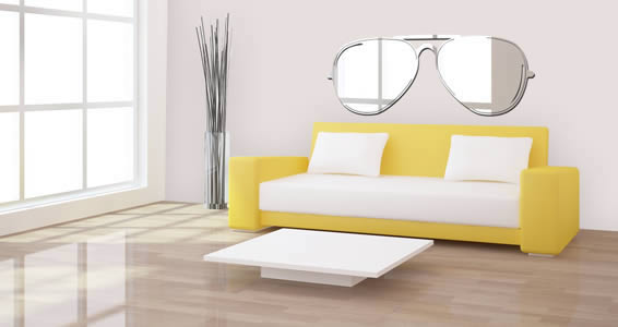 Sunglass acrylic wall mirror