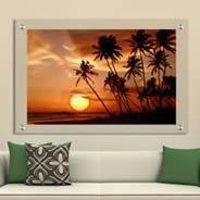 Sunset Palm Trees Plexiglass Stand Off