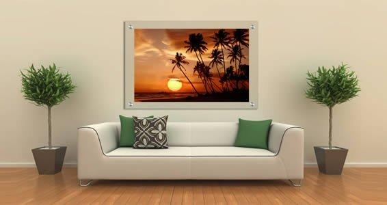 Sunset Palm Trees Plexiglass Stand Off