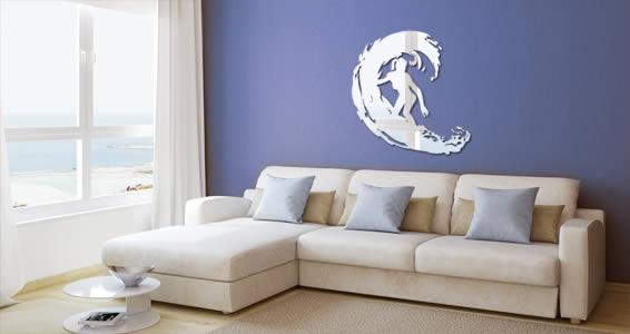 Surf acrylic wall mirrors