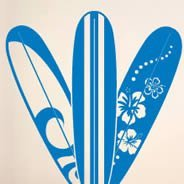 Hawaii Surfboard wall decals