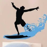 Surf wall decals