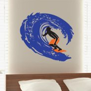 Surfer Wave wall decals
