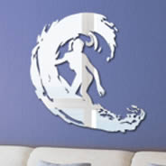 Surf acrylic wall mirrors