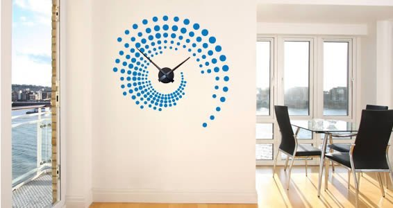 Swirl Around the Clock wall sticker