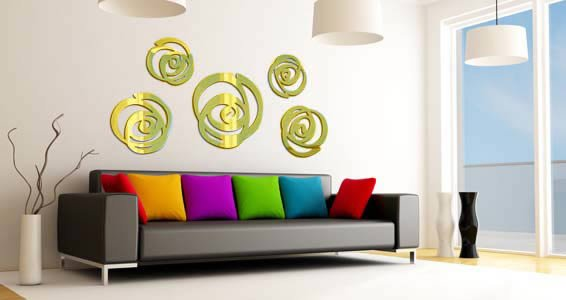 Acrylic Wall Mirror swirls acrylic wall mirrors | dezign with a z