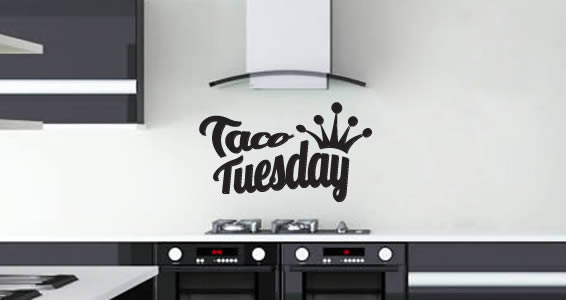 Taco Tuesday decals