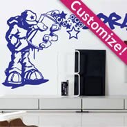 Personalized Lettering Ouech Pelo wall stickers