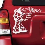 Ouech Pelo car decal