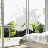Hawaiian Flower frosted vinyl window decals