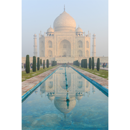 Taj Mahal Palace Fountains wall canvas