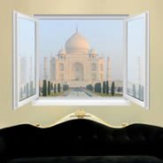 Taj Mahal Faux Window Murals