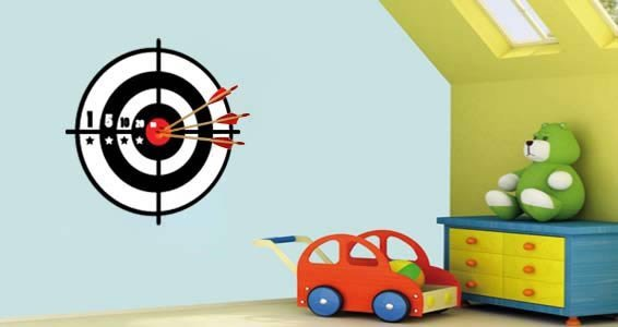 Target wall decals  sc 1 st  Dezign With a Z & Target wall decals | Dezign With a Z