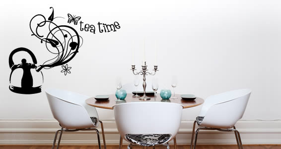 Tea Time! wall tattoos