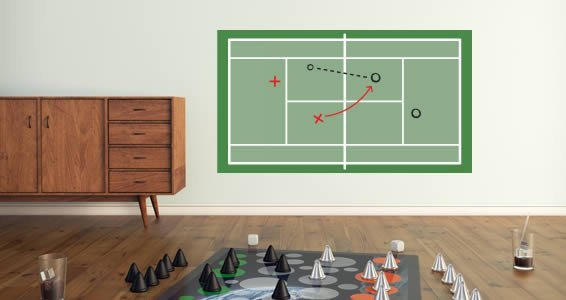 Tennis Court Dry Erase wall decal