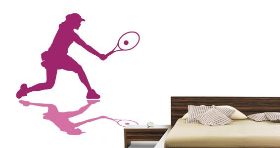 Tennis Player wall decals