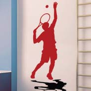Tennis Reflection wall decals