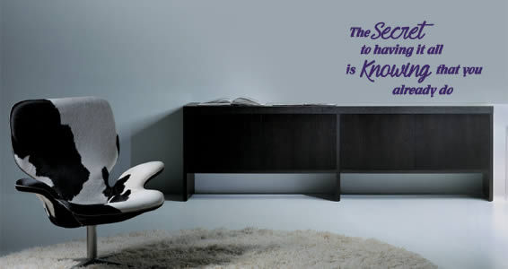 The Secret wall quote decal