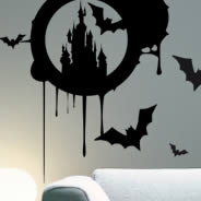Chateau de Bats halloween wall decals