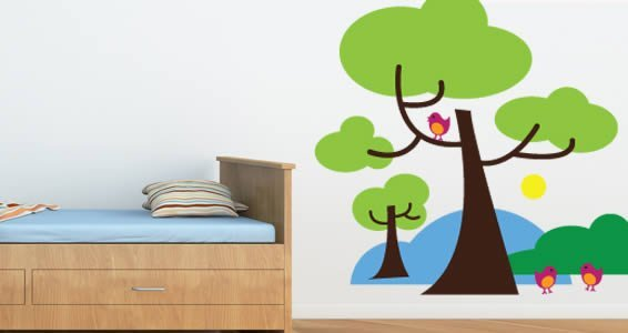 Three Birds on a Tree wall decals