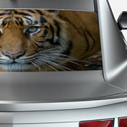 Crouching Tiger see through car window decal