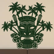 Tiki wall sticker